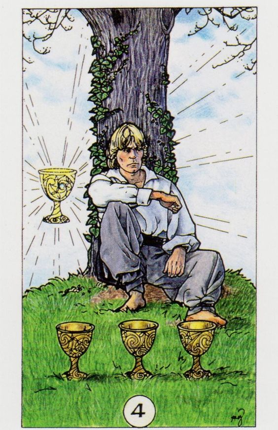 The four of cups